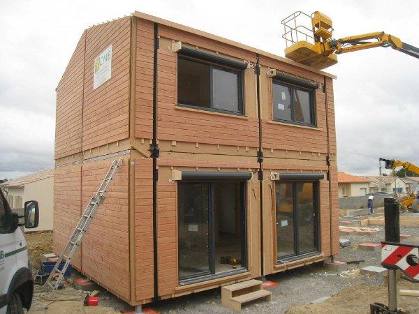 Maisons bbc ossature bois l 39 art du pr fabriqu - Module prefabrique bois ...