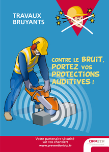 Travaux bruyants - Contre le bruit, portez vos protections auditives !