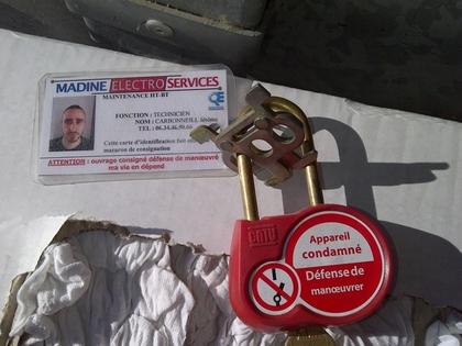 Cadenas de consignation avec carte pr vention btp - Cadenas de consignation ...