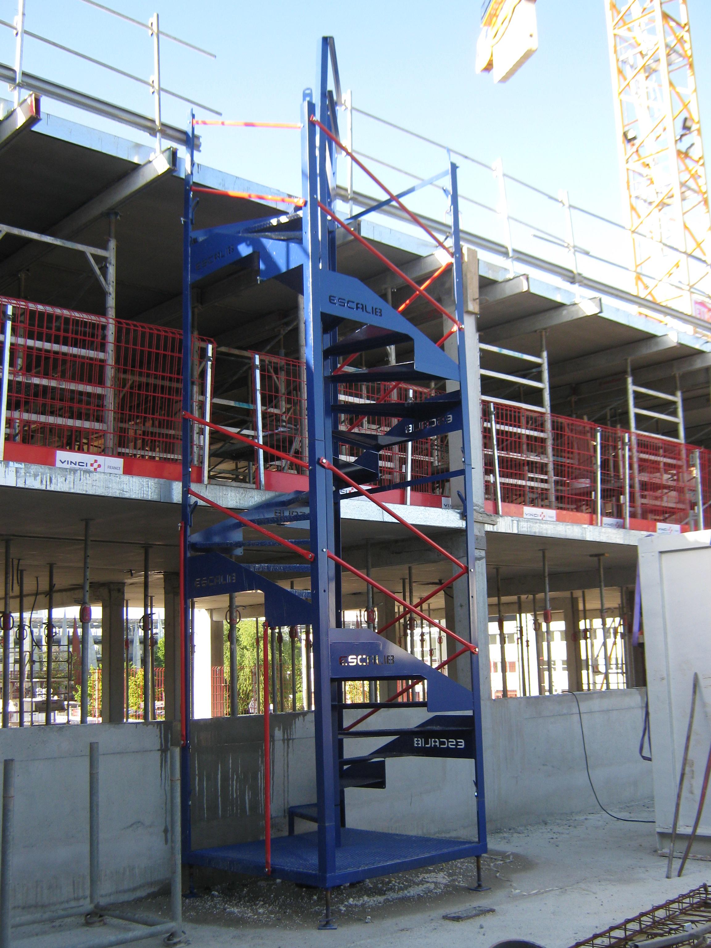 Escalier Modulaire Pas Cher escalier d'accès modulable et monobloc prévention btp