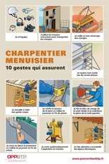 Charpentier-menuisier - 10 gestes qui assurent