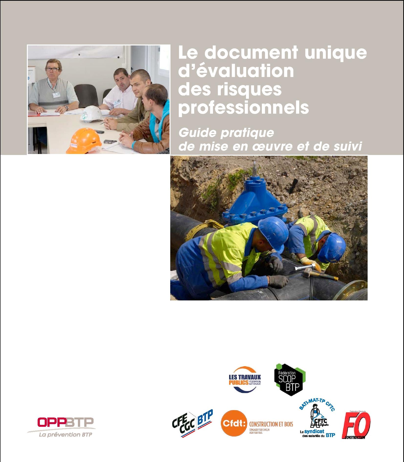 Le Document Unique D Evaluation Des Risques Professionnels Guide