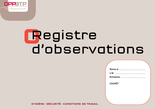 Registre d'observations (4 pages)