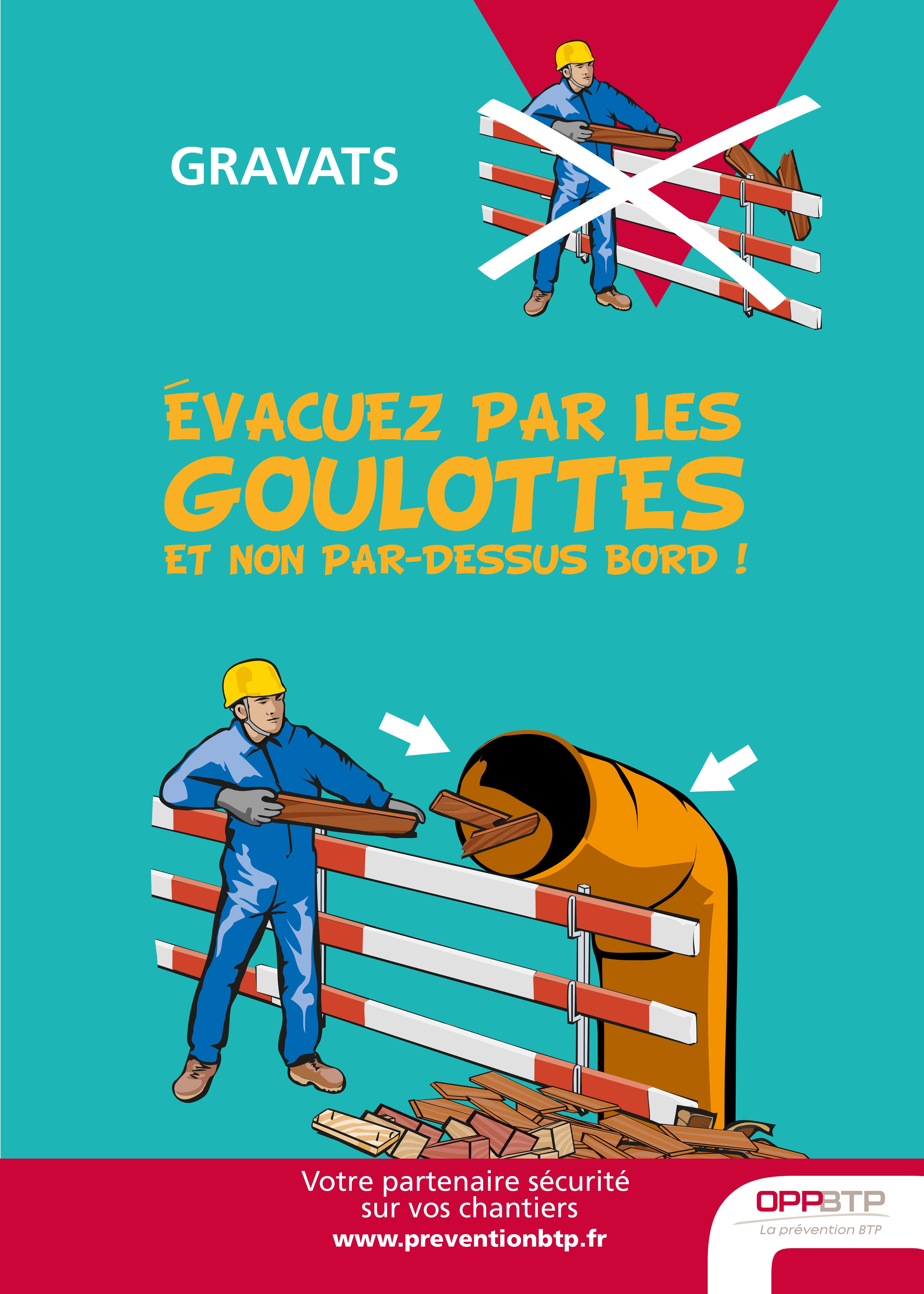 Affiches pr vention btp for Combien coute une benne a gravat