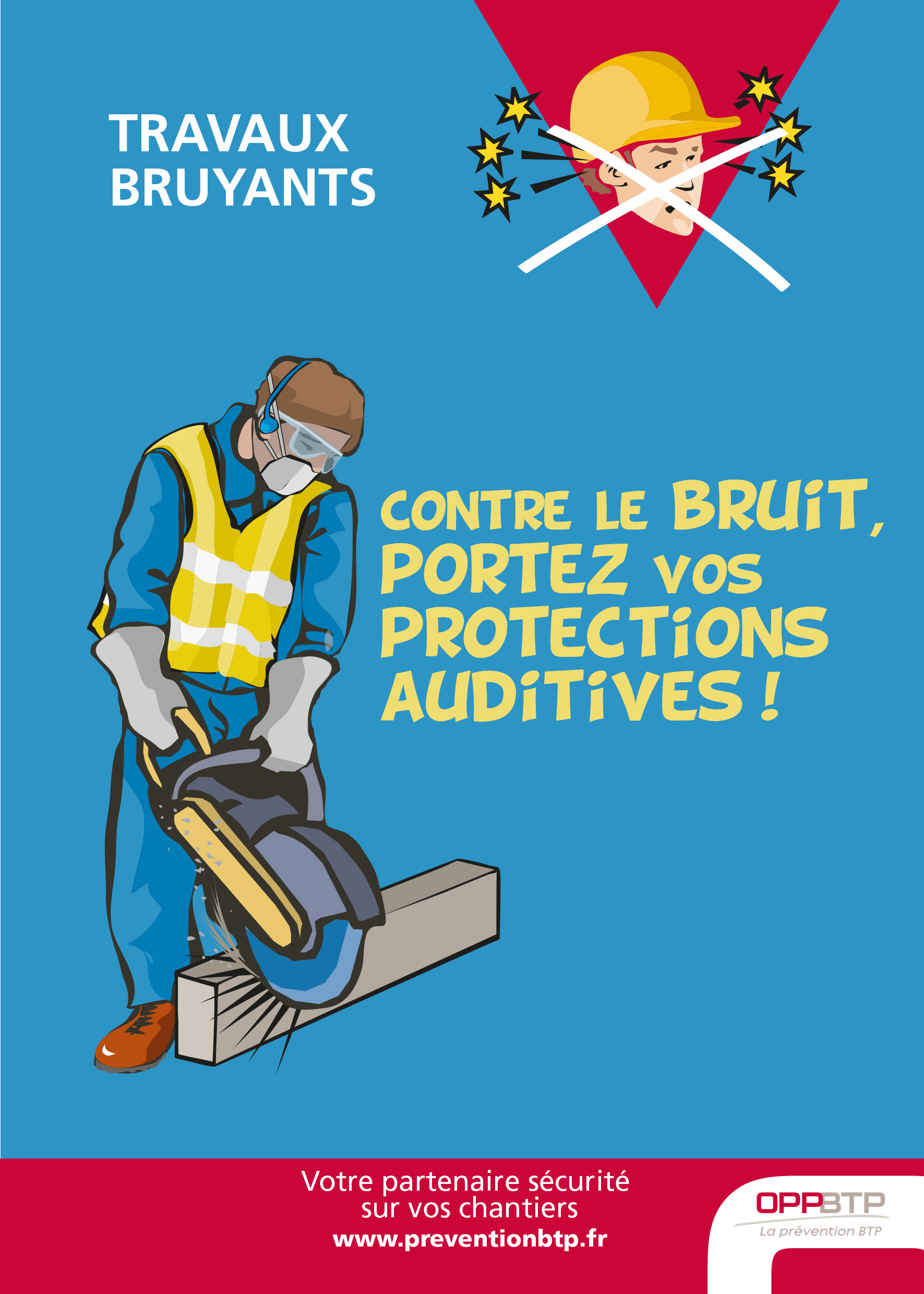Travaux bruyants contre le bruit portez vos protections auditives pr vention btp - Capitonner une porte contre le bruit ...