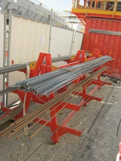 Rack de stockage des aciers ronds sur chantier pr vention btp - Rack de stockage brico depot ...